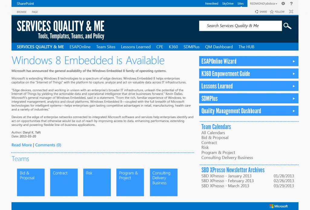 SQM Landing Page